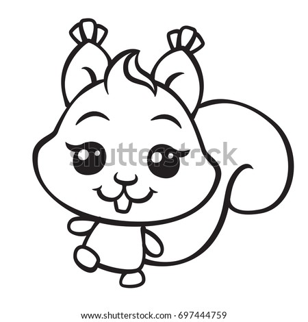 Coloring Book Pages Squirrel Stock Images Royalty Free Images Squirrel Coloring Pages