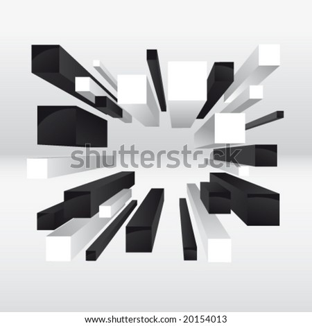 Vector 3d abstract illustration. No mesh. - stock vector