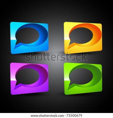 vector 3d chat bubble artwork - stock vector
