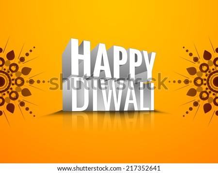 Vector 3d design for Diwali festival with green bomb. - stock vector