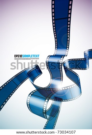 Vector 3D Film - stock vector