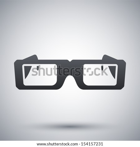 Vector 3D Glasses Icon - stock vector
