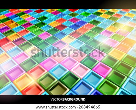 Vector 3d glossy background - stock vector