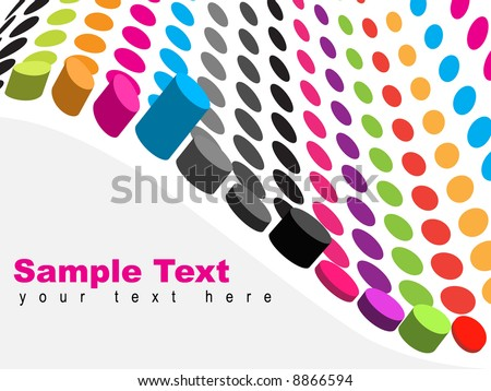 Vector - 3D Halftone colorful retro dots forming a wave for background use. - stock vector