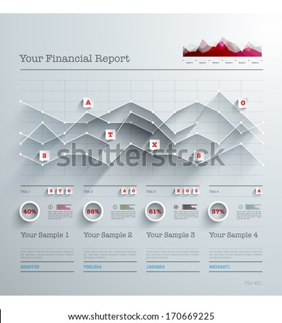 Vector 3D Paper Infographics - stock vector