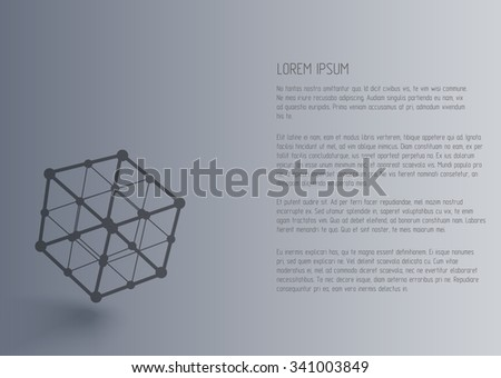 Vector 3d perspective outline cubes in moution with realistic shadow . Abstract concept illustration ,template , background ,poster for business,science or technology . - stock vector