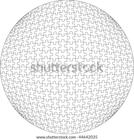 Vector.3d puzzle ball in color 21. More see in portfolio  - stock vector