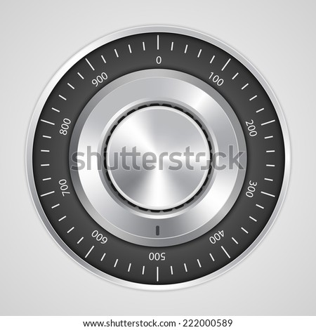 Vector 3d realistic combination safe lock. - stock vector