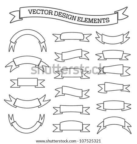 Vector 2d Simple Otline Banner Graphic Stock Vector 107525321 ...