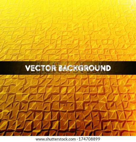 Vector 3D squares on the orange background with text - stock vector