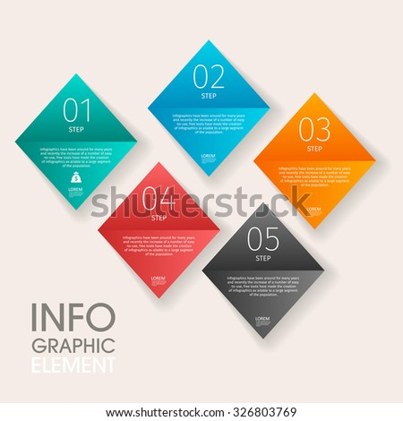 Vector 3d step label infographic design elements template for business , banners , web site , brochures
