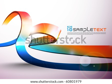 Vector 3D Stripe Design - stock vector