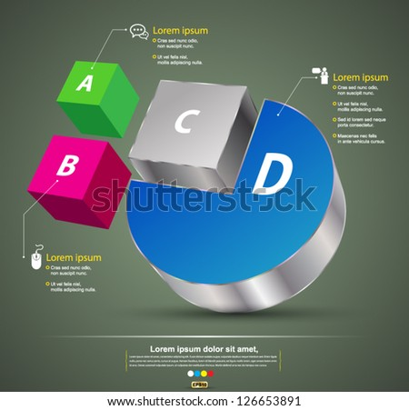 Vector 3D style / can use for  business background / modern template / education plan / business plan / can use for infographic - stock vector