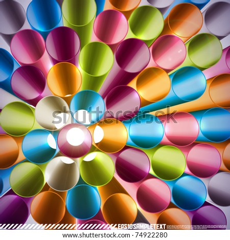 Vector 3d Top View of Straws