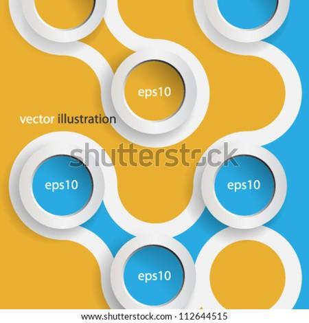 Vector 3D web design background - eps10 - stock vector