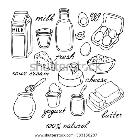 dairy products coloring pages - photo#37