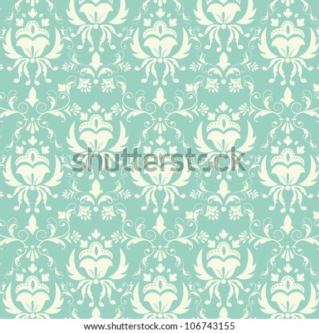 Vector damask pattern background eps10 - stock vector