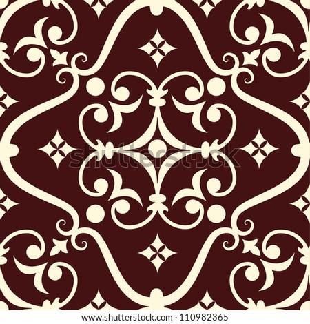 Vector damask pattern element eps10 - stock vector