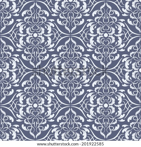 Vector damask pattern. Luxury wallpaper. Flower design elements.