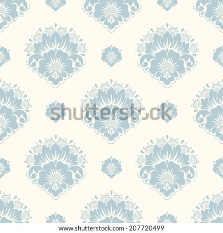 Vector damask seamless pattern background. Elegant luxury texture for wallpapers, backgrounds and page fill. - stock vector