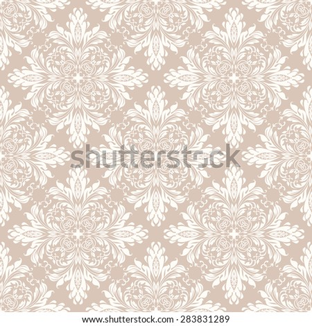 Vector damask seamless pattern background. Elegant luxury texture for wallpapers, tiles. Floral ornament.