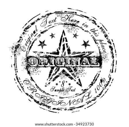 VECTOR Damnaged Grunge and Vintage Original Rubber Stamp - stock vector