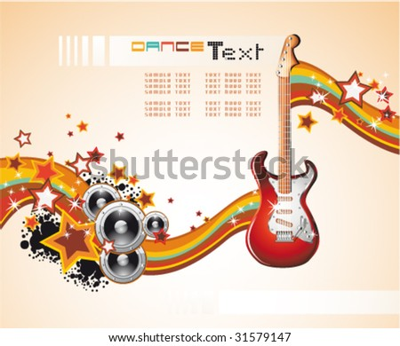 VECTOR Dance and Music Event Background for poster or brochure - stock vector