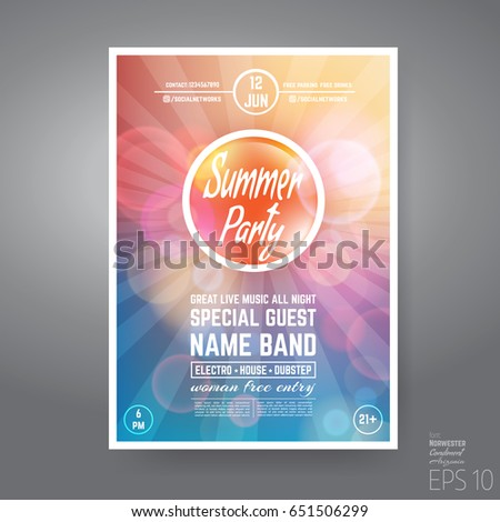 Yellow Flyer Template Banner Colorful Abstract Stock Vector