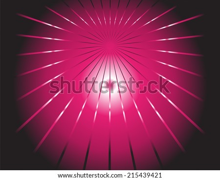 Vector dark background and pink ray - stock vector