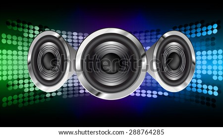 vector dark green blue sound wave, abstract pulse background. speaker. music. infographics. Technology background for computer graphic website internet and business. loudspeaker