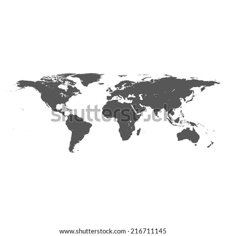 Vector dark grey on white world stock vector 216711145 shutterstock vector dark grey on white world map gumiabroncs Images