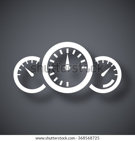 Vector dashboard icon - stock vector