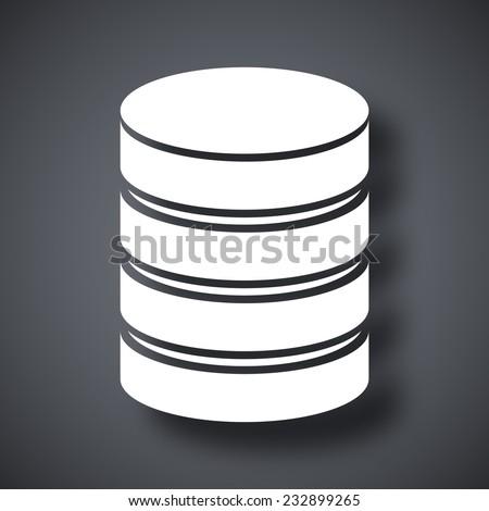 Vector database icon - stock vector