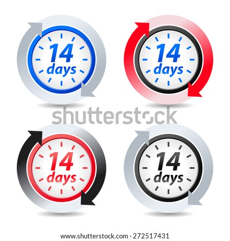 Vector 14 days - stock vector