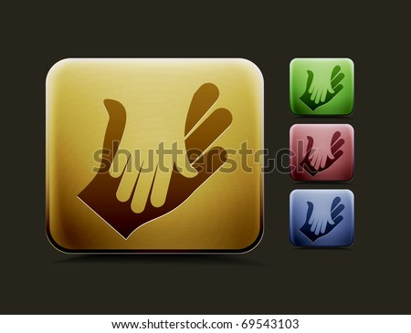 vector deal icon set, includes four color versions for your web colour design used. - stock vector