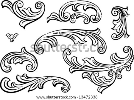 Vector decoration elements - stock vector