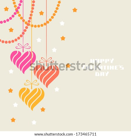 Vector decoration made from heart shapes. Valentine's day and wedding illustration - stock vector