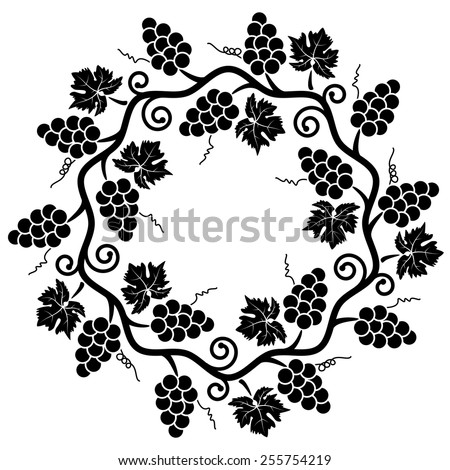 vector decoration of grape vine - stock vector