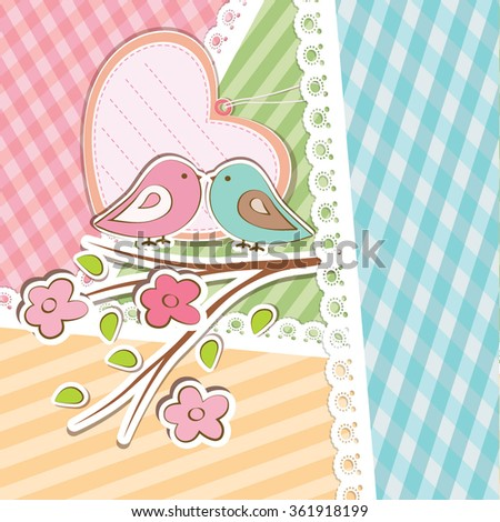 Vector decorative Background with Heart. - stock vector
