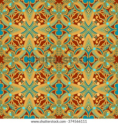 Vector decorative background with vintage pattern for design, print, embroidery.