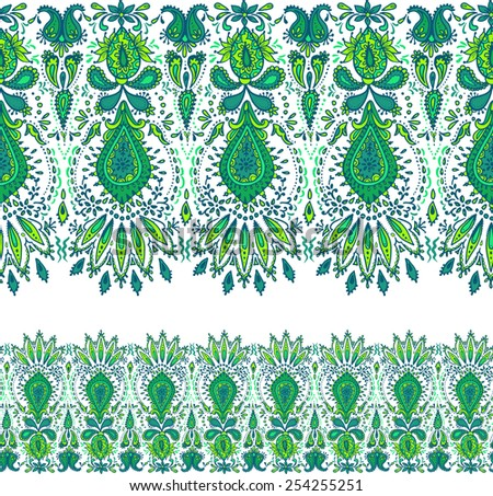 vector decorative border. seamless horizontal pattern. - stock vector