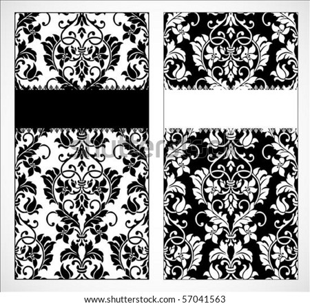 Vector decorative frame. Easy to scale and edit. Pattern is included as seamless swatch - stock vector