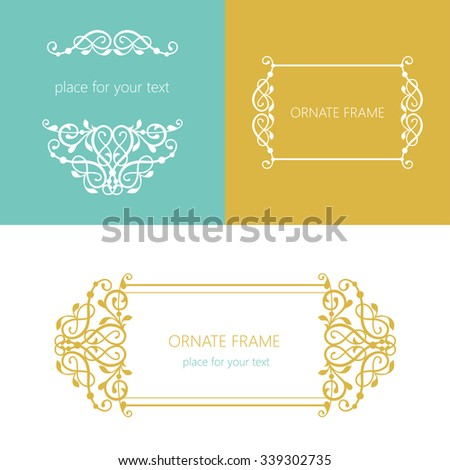 Vector decorative frame. Elegant element for design template, place for text.Floral border. Lace decor for birthday and greeting card, wedding invitation. - stock vector