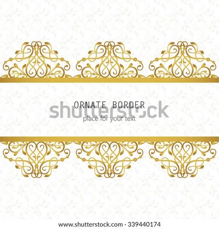 Vector Decorative Frame Elegant Gold Element Stock Vector (2018 ...
