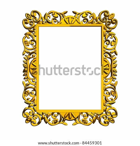 vector decorative frame over white background - stock vector