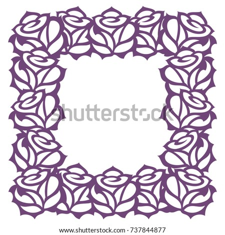 Vector Decorative Frame Roses Template Laser Stock Vector HD ...