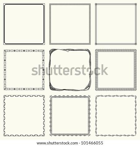 Vector decorative frames (set 16) - stock vector