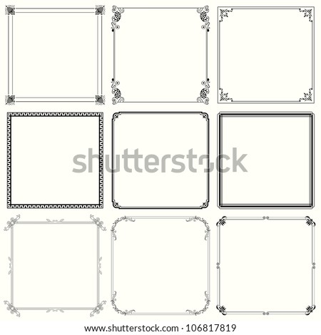 Vector decorative frames (set 24) - stock vector