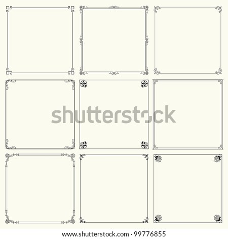 Vector decorative frames (set 14) - stock vector
