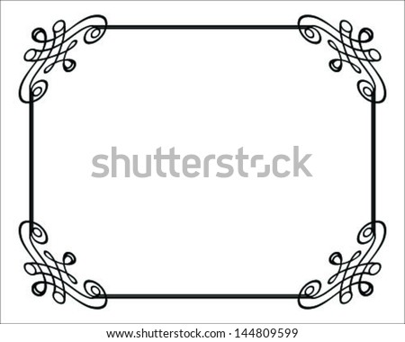 Vector decorative frames 3-vector